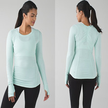 Slim-Fitting Long Sleeves Yoga Wear Gym Wear
