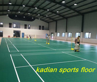 pvc badminton sports floor indoor badminton court green color 4.5mm-5.5mm