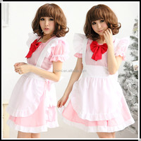 high quality pretty girl white and pink gothic lolita dress