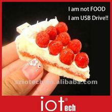 OEM USB Stick 16GB, Cake Shape, Food USB,