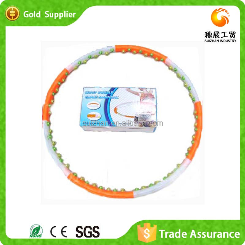 2015 Popular Cheap Magnetic Plastic Massage Hula Hoop For <strong>Fitness</strong>