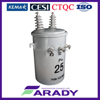 power transformer 1000w single phase pole-mounted distribution transformer