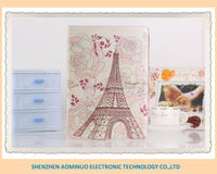 wholesale lowest price Eiffel Tower for IPad 5 Silk pattern PU leather case cover cover for ipad 5 case