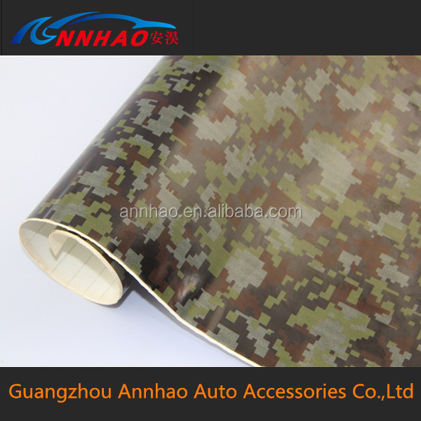 Annhao 1.52*30m Air Release Wrapping Foil Camouflage Film Auto