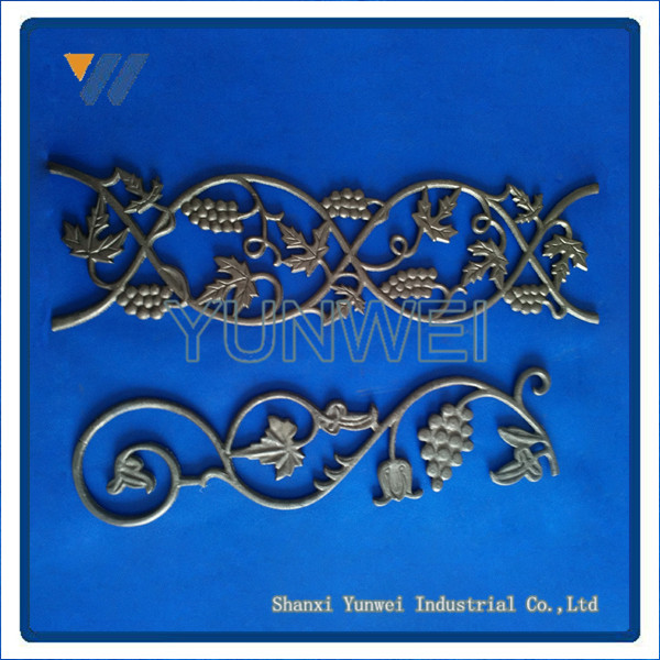 New Design Ornamental Wrought Iron Decorative Patterns / Wrought Iron Rosettes
