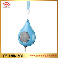 WATER DROP Shape Portable mini SOUND BOX,active powered speaker