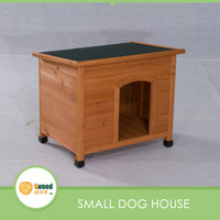 Factory Direct Flat Hinged Roof Wooden Pet Fort Dog House