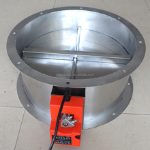 Electrical Motorized Air Dampers round for air duct