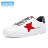 2018 fashion OEM pure white men flat casual shoes