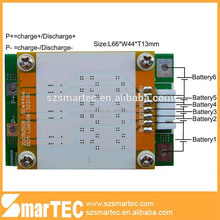 battery board 6s 19.2V BMS lifepo4 battery pack
