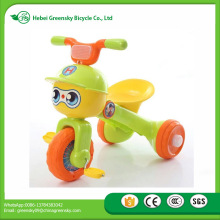 Good quality new design multi-functional baby electric music folding mini tricycle kids ride on cars toys with light