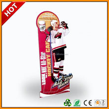pan cardboard cutouts standees ,padvertising foldable floor display standee ,outdoor poster stand