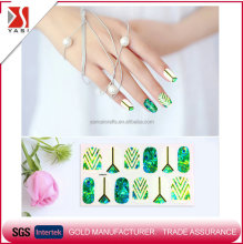 Novel design products beautiful glass nail art sticker with trade assurance