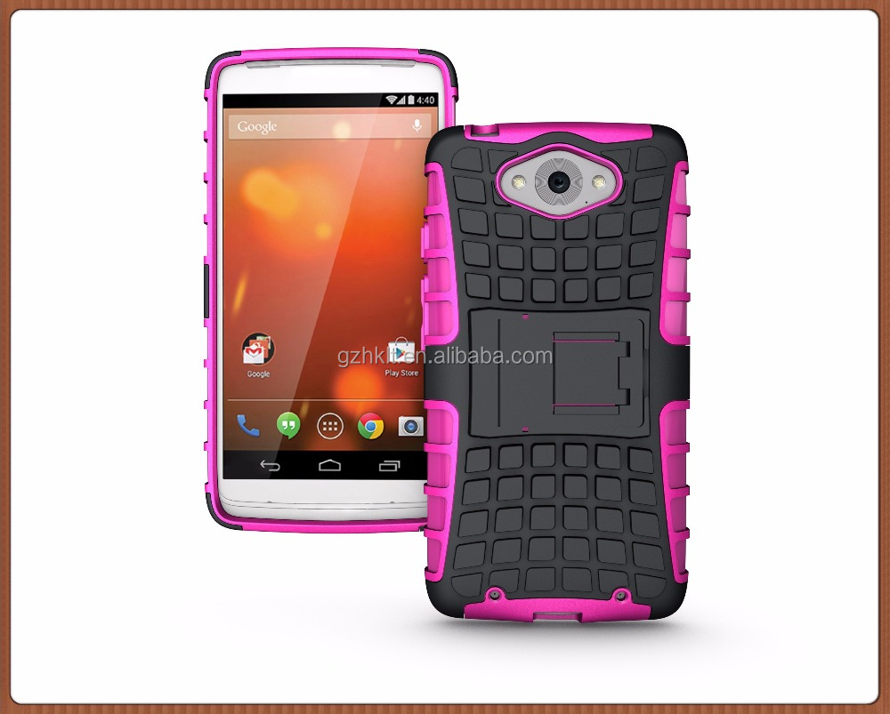 Low MOQ, Hybrid Robot TPU+PC Kickstand Combo Phone Cases for Moto Maxx/Droid Turbo 1254
