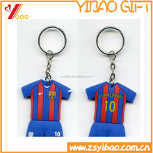 Wholesale custom 2d/3d soft pvc keychain/clothes shapes key chain