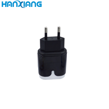 Unique 5V 2.4A Black Double USB Fast Home Travel Wall Charger,5v 2.4a fast home charger
