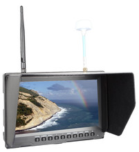 Built in Rechargeable Battery 8inch fpv wireless 5.8ghz monitor for camera helicopter,dji phantom walkera,fatshark