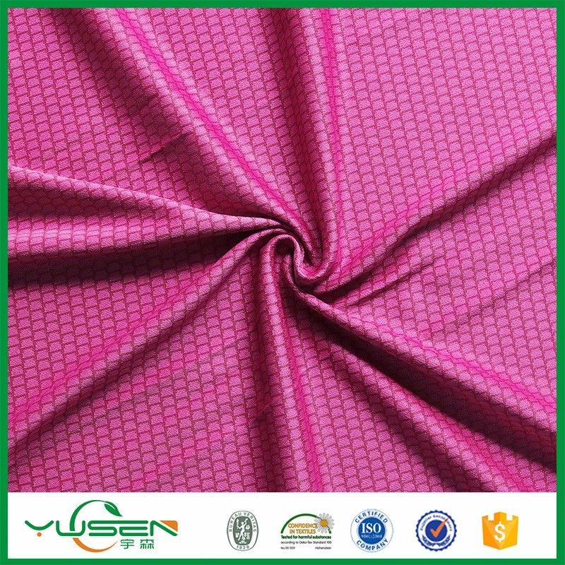 New design reasonable price Honeycomb Athletic Wear Material