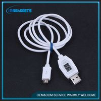 usb adapter cable ,H0T219 for iphone6 data cable lcd current display