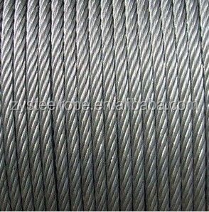 specifications steel tension cable 6x25 marine steel wire rope