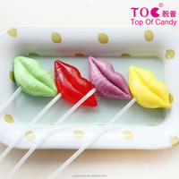 For lovers kiss you Customize shape lip lollipop candy