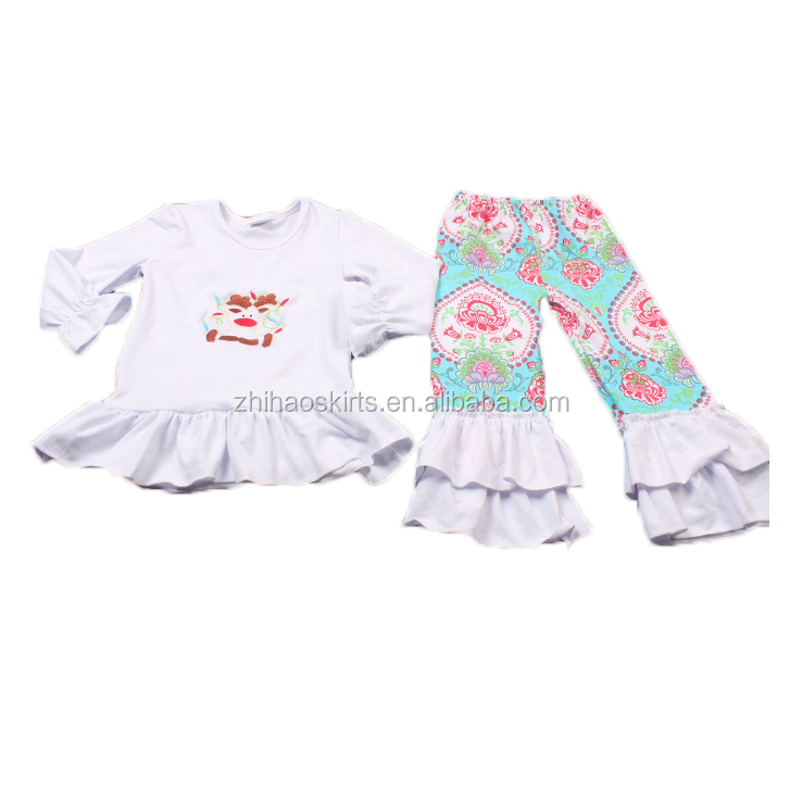 cheap price factory wholesale brand name girls christmas embroidery newborn baby winter clothes