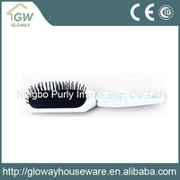 Cheap and high quality folding travel plastic hairbrush with mirror