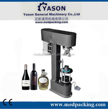 wine bottle aluminum screw cap ropp capping machine