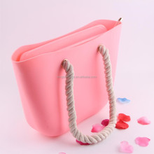 Ladies Silicone Rubber Waterproof Beach Handbag