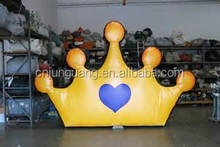 2017 hot sale inflatable crown for advertising