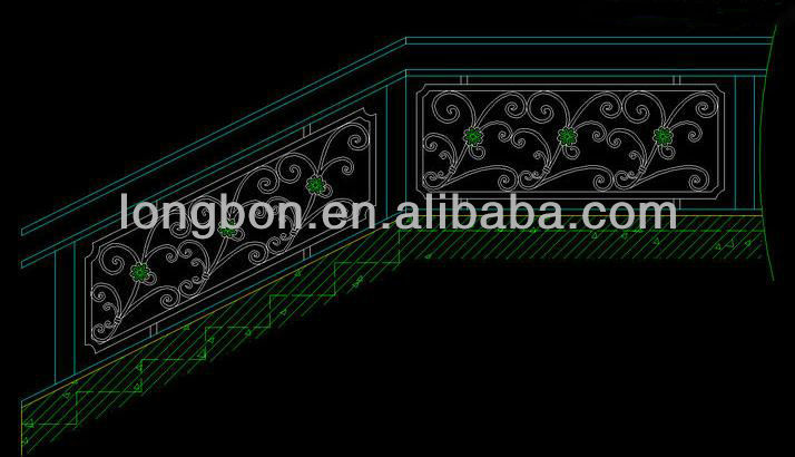 Top-selling outdoor wrought iron stair railing