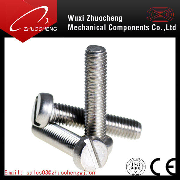 DIN84 phillips cheese head machine screw slotted Cheese Head Screw