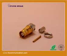 1.6/5.6 l9 female jack crimp bulkhead rf connector for bt3002 cable