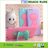 Silicon Mobile Phone cover with Cute Butterfly Bow Stand Holder Cartoon Mobile Phone Case