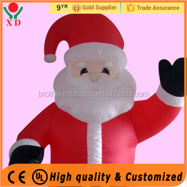 2016 cheap outdoor wholesale inflatables lighted standing santa claus/snowman christmas decorations
