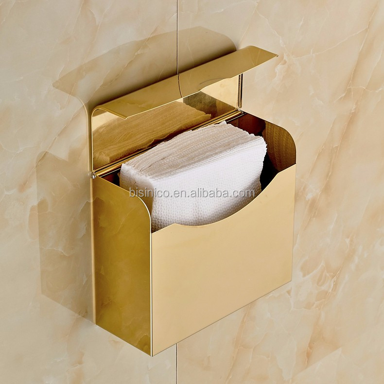 Luxury Wall Mounted Gold Plated Bathroom Toilet Tissue