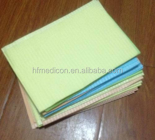 Medical 2ply paper ,1ply film dental bib,dental paper tissue bib/disposable dental bib/Medical dental bib for hospital