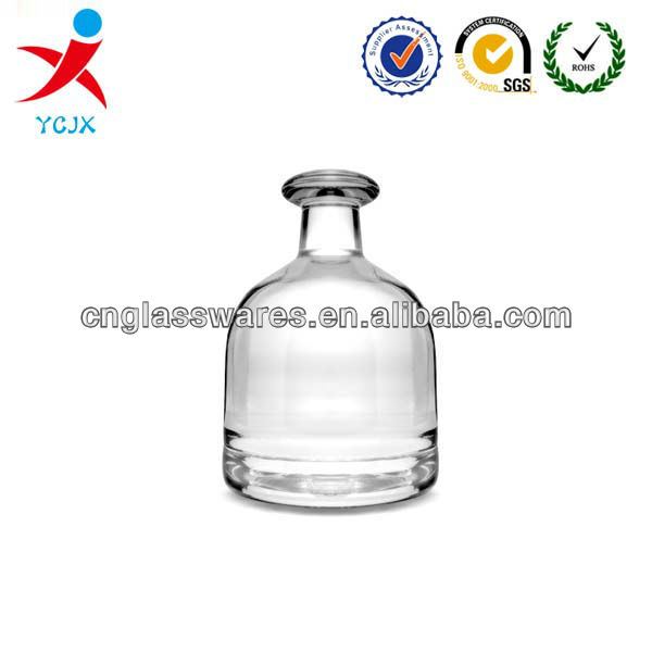 Mini frosted round glass bottle