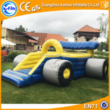 Car bouncer castle 6*4*3m inflatable tunnel bouncer combo for kids