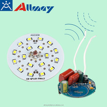 b22/e27 base new model AC110V adjustabled microwave/motion sensor LED bulb with light operated automatic turn on/off 4W/7W