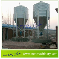 LEON feeds silos feeding line with steel hopper