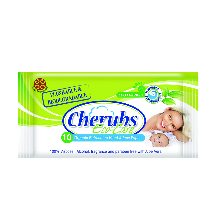 ECO Friendly Flushable & Biodegradable Organic Baby Wet Wipes