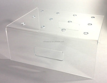 Clear Acrylic display 18 Push Pop Containers wholesale custom