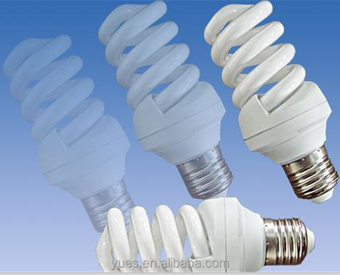 T4 cool white lighit tri-color energy saver bulbs made in china