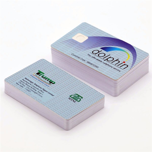 Pvc double side offset printing 1 k byte FM4428 contact ic smart chip card