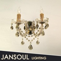 2 candel holder vintage chinese crystal chandelier wall lamp european wholesale price crystal candelabra wall lamp