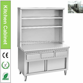 Professional Design Stainless Steel Kitchen Racks Cabinet With Shelf
