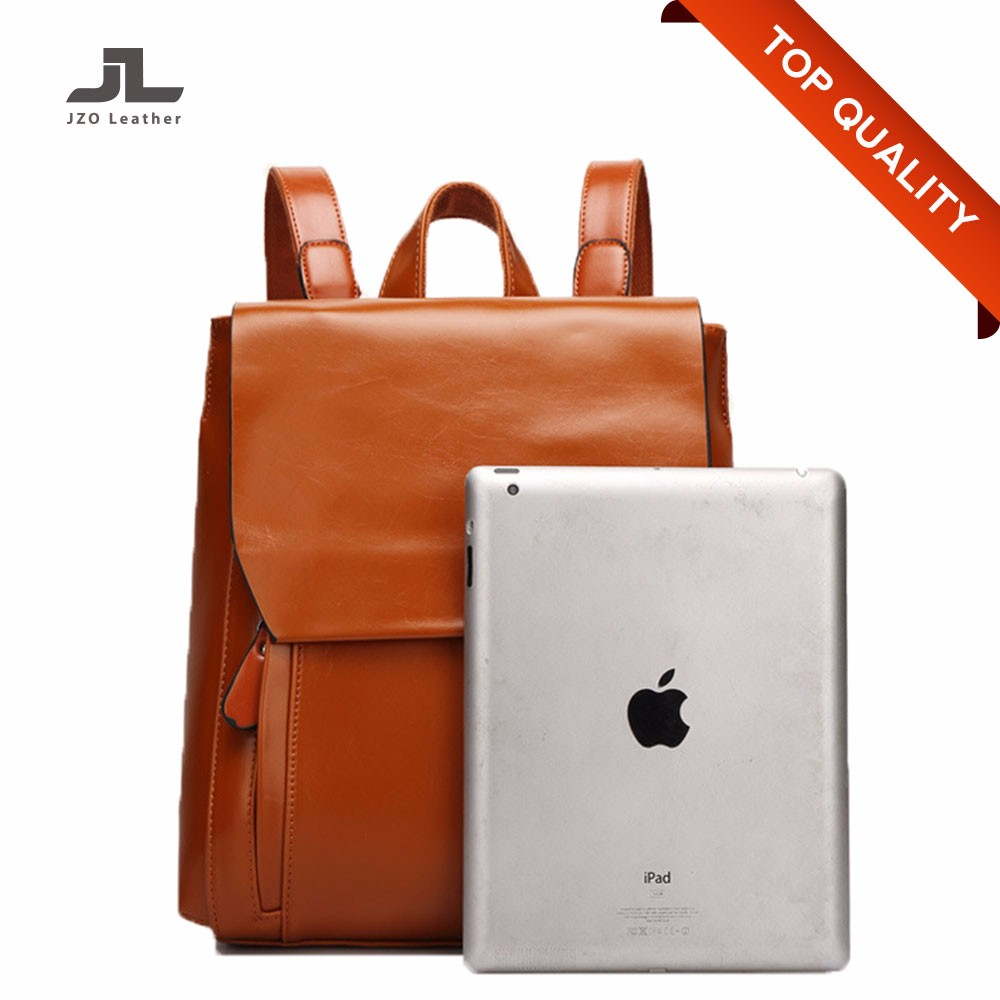 Custom Minimalist Favorable PU Leather Laptop Backpack for Teenagers Girls