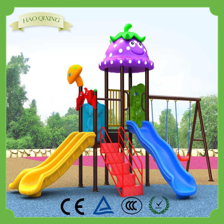 Shopping malls children outdoor play combination slide equipment for sale