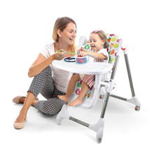 China wholesale cheap price plastic portable feeding baby folding high chair